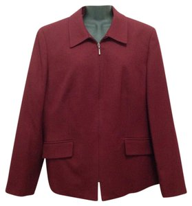 Talbots Wool Office Maroon Blazer