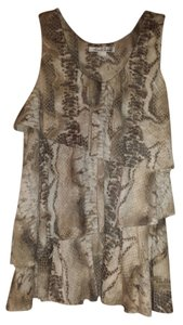 Kenneth Cole Animal Print Top Brown/tan/white
