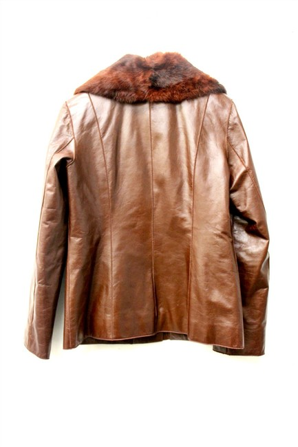 Mauritus Brown Leather Jacket