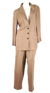 Krizia Ladies Silk Pants Suit Womens Krizia Camelhair Size 42