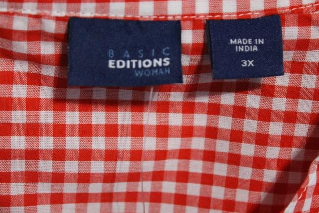 Basic Editions Top Red/White