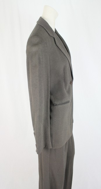 Emporio Armani Ladies Emporio Armani Pants Suit Womens Grey Pin Striped Olive Size 42