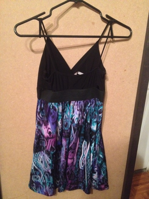 Kiwi short dress Black, purple, blue on Tradesy