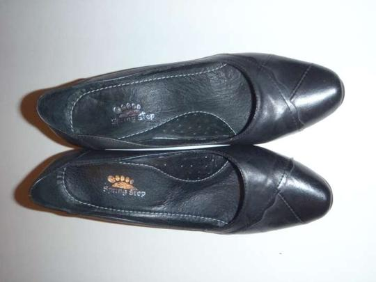Spring Step 'mirth' Uk Size 37 Black Pumps