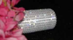 White Bouquet Wrap with Rhinestones Reception Decoration
