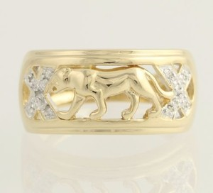 Other Jaguar Diamond Statement Ring - 14k Yellow Gold Band Womens
