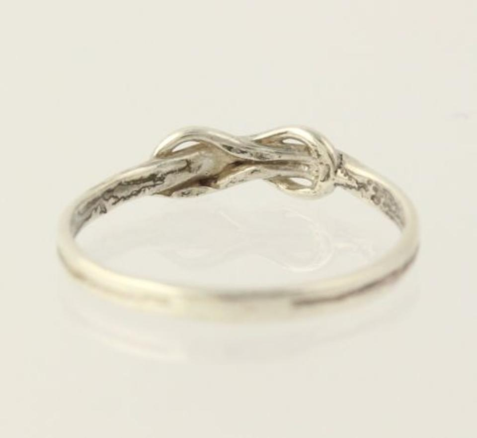Forever Knot Ring Sterling Silver Band Infinity Symbol Love