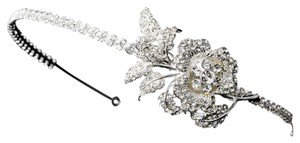 Other Anais Elegant Rhinestone Encrusted Flower Bridal Headband Tiara