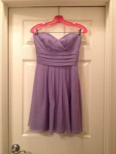 After Six Light Purple Chiffon Sweetheart Neck Knee Length Formal Bridesmaid/Mob Dress Size 2 (XS)