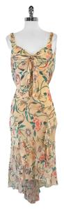 Diane von Furstenberg Floral Silk Asymmetrical Dress