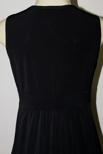 50 Off Kate Mallory Black New Stretch Knit Sleeveless Crossover
