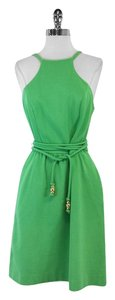 MILLY short dress Green Sleeveless High Neck on Tradesy