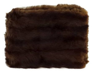 Other Brown Striped Fur Clutch