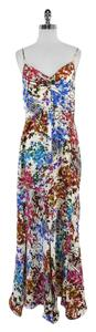 Maxi Dress by Ali Ro White Splatter Floral Print