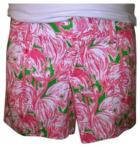 Lilly Pulitzer Shorts Prep Green Pink Colony Small
