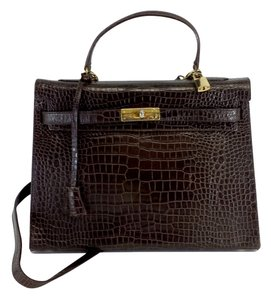Cristian Brown Embossed Leather Shoulder Bag
