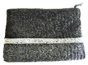 Neiman Marcus Black, Pearl and Graphite Clutch