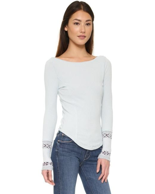 Free People Thermal Thermal Cuff Top {nwt}