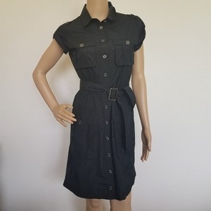 Burberry short dress Black, Gold Hardware Belted Short Sleeve Plaid Nova Check on Tradesy