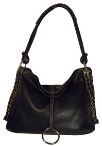 Michael Rome Leather Hobo Shoulder Bag