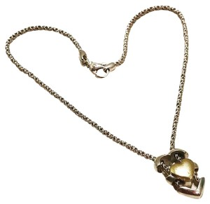 Tiffany & Co. Authentic Tiffany & Co. Sterling Silver Heart Puzzle Slider Necklace