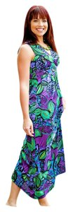 Purple Print Maxi Dress by Kate & Mallory