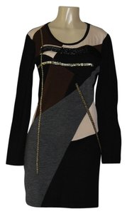 DKNY short dress black/ color block on Tradesy