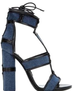 Tom Ford Denim and leather trim Sandals