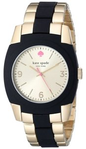 Kate Spade Kate Spade NY 1YRU0161 Women's Skyline Gold Plated Black Poly-carbonate Watch NEW! $225