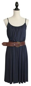 Ann Taylor LOFT short dress Navy Blue Knit on Tradesy