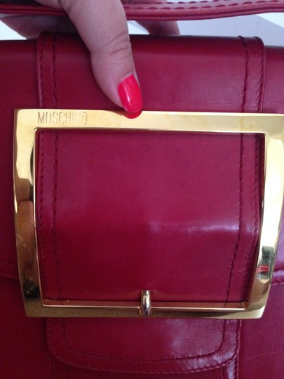Moschino Envelope Buckle Oversized Lipstick Jumbo Shoulder Bag