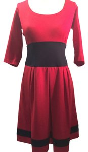 Nanette Lepore short dress Red Navy on Tradesy
