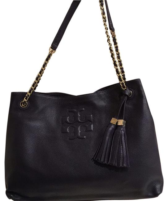 Item - Thea Slouchy Tote Purple Leather Shoulder Bag