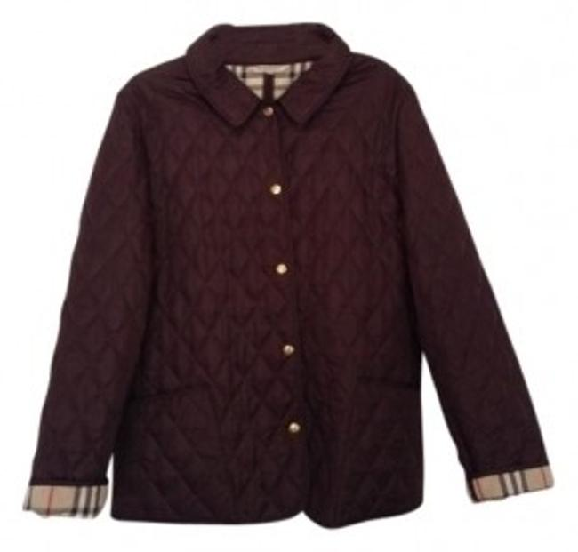 Item - Eggplant London Quilted Jacket Size 12 (L)