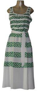 white/green Maxi Dress by DKNY