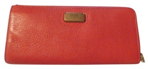 Fossil NEW W TAGS Fossil Emerson Large L-Zip NEW Leather Wallet RED USA FREE SHIPPING