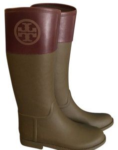Tory Burch Olive and Almond Boots