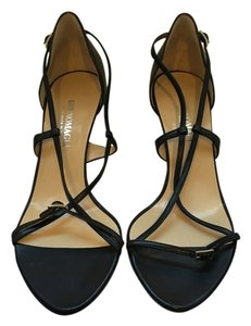 Bruno Magli Kitten Heel Strappy Black Pumps