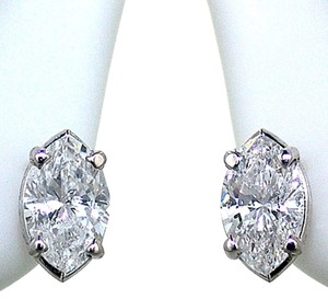 ABC Jewelry Marquise Cut Diamond Earrings