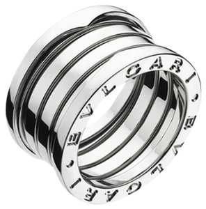 BVLGARI Bulgari B.Zero1 18K White Gold 4 Band Ring AN191026 US 5.75