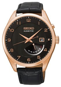 Seiko Seiko SRN054 men Kinetic Watch Rose Gold Analog
