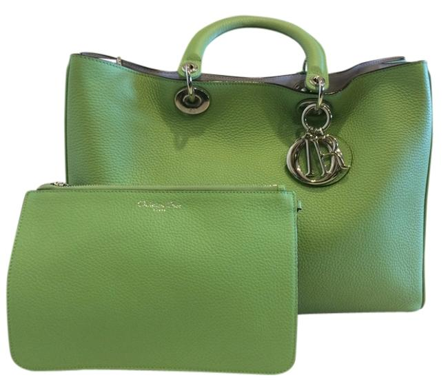 Item - issimo Green Leather Tote