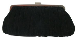 Vintage Velvet Mary Black Clutch