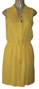 Banana Republic short dress canary yellow on Tradesy