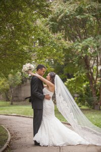 Ivory Long Cathedral Beaded Lace - Custom Design Bridal Veil