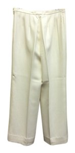 Ellen Tracy Silk Trouser Pants Cream