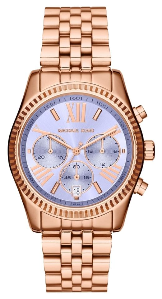 e3745f1d3e2d Michael Kors Michael Kors MK6207 Women s Lexington Purple Dial Rose Gold  tone Watch NEW!