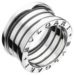 BVLGARI Bulgari B.Zero1 18K White Gold 4 Band Ring AN191026 US 4.5
