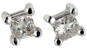 ABC Jewelry Princess Cut Diamond Earrings