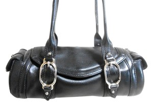 Cole Haan Small Leather Satchel in Black